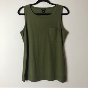 Ann Taylor Green Pocket Tank